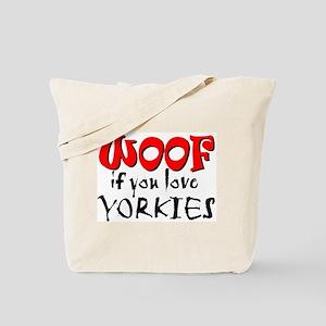 WOOF Yorkies Tote Bag