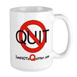 iamNOTaQuitter.com Large Mug