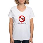 iamNOTaQuitter.com Women's V-Neck T-Shirt