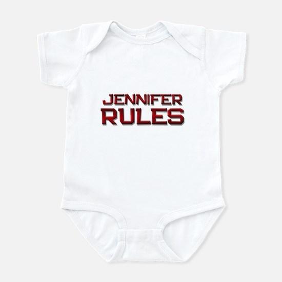 jennifer rules Infant Bodysuit