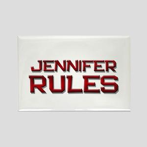 jennifer rules Rectangle Magnet