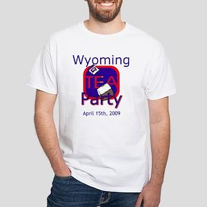 Wyoming Tea Party: White T-Shirt