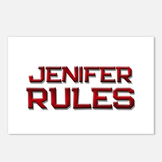 jenifer rules Postcards (Package of 8)