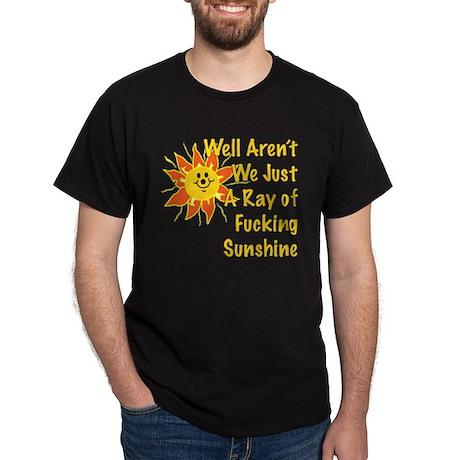 Ray of Sunshine Black T-Shirt