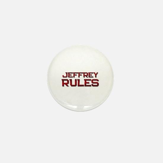 jeffrey rules Mini Button