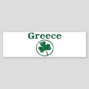 Greece shamrock Bumper Sticker