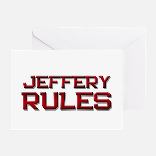 jeffery rules Greeting Card