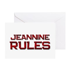 jeannine rules Greeting Card