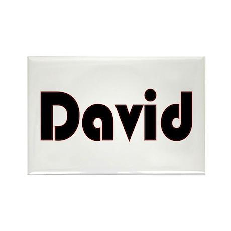 David Rectangle Magnet