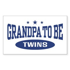 Grandpa To Be Twins Rectangle Decal