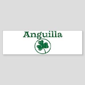 Anguilla shamrock Bumper Sticker