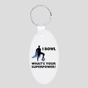 Bowling Superhero Keychains