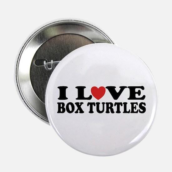 "I Love Box Turtles 2.25"" Button"