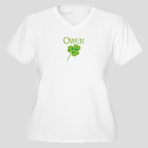 Owen shamrock Women's Plus Size V-Neck T-Shirt