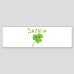 Savana shamrock Bumper Sticker