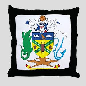Solomon Islands Coat of Ar Throw Pillow
