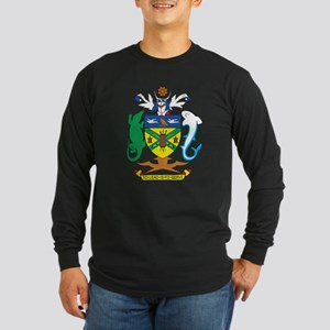 Solomon Islands Coat of Ar Long Sleeve Dark T-Shir