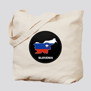 Flag Map of Slovenia Tote Bag