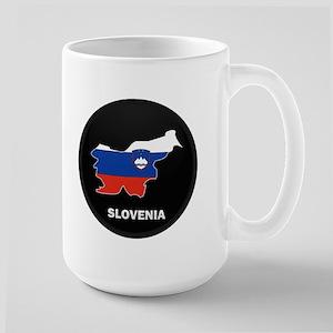 Flag Map of Slovenia Large Mug