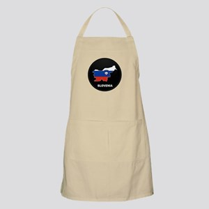 Flag Map of Slovenia BBQ Apron
