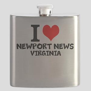 I Love Newport News, Virginia Flask