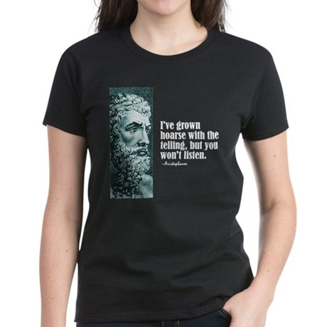 "Aristophanes ""Hoarse"" Women's Dark T-Shirt"