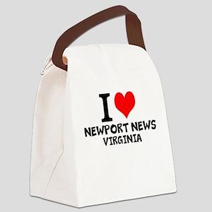 I Love Newport News, Virginia Canvas Lunch Bag
