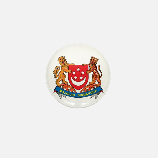 Singaporean Coat of Arms Seal Mini Button