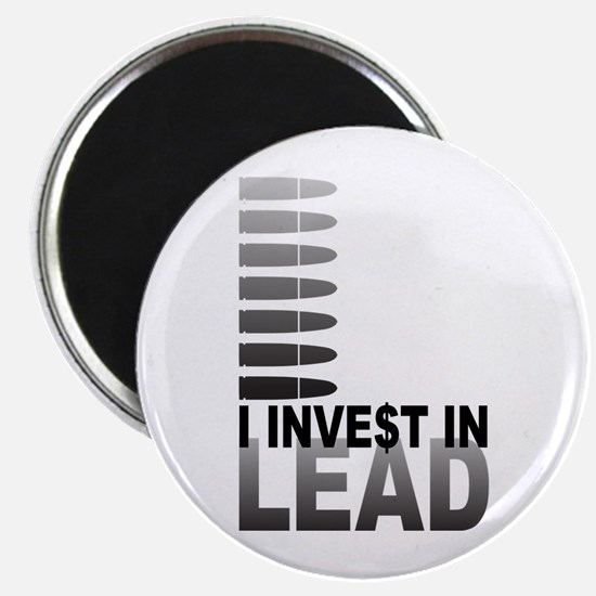 """I Invest In Lead 2.25"""" Magnet (100 pack)"""