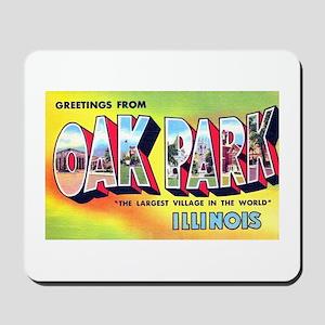 Oak Park Illinois Greetings Mousepad