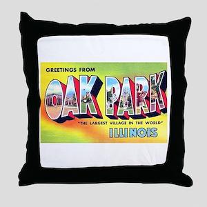 Oak Park Illinois Greetings Throw Pillow