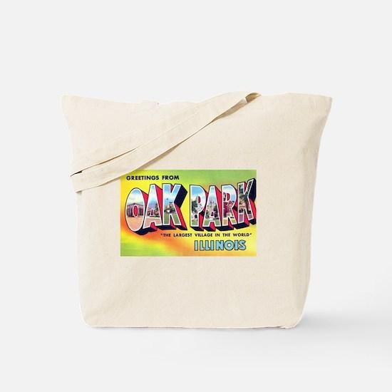 Oak Park Illinois Greetings Tote Bag