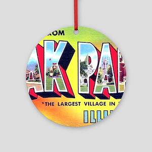 Oak Park Illinois Greetings Ornament (Round)