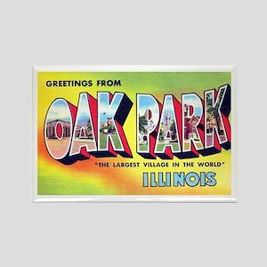 Oak Park Illinois Greetings Rectangle Magnet
