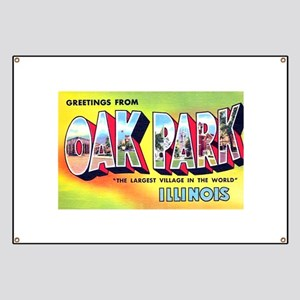 Oak Park Illinois Greetings Banner