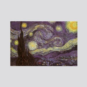Van Gogh Starry Night Rectangle Magnet (10 pack)