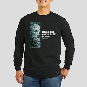 "Aristophanes ""Each Man"" Long Sleeve Dark T-Shirt"