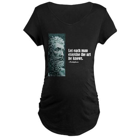 "Aristophanes ""Each Man"" Maternity Dark T-Shirt"