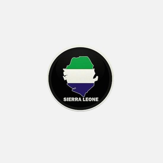 Flag Map of Sierra Leone Mini Button