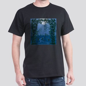 Ghostly Nights Black T-Shirt
