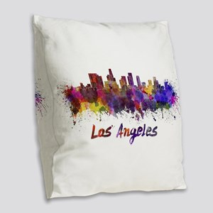 I Love LA Burlap Throw Pillow