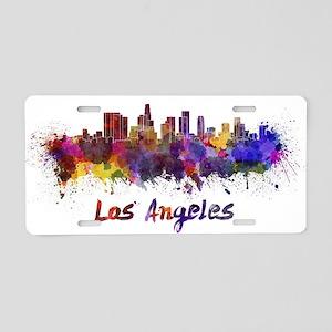 I Love LA Aluminum License Plate