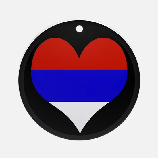 I love Serbia Flag Ornament (Round)