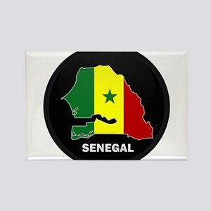 Flag Map of senegal Rectangle Magnet
