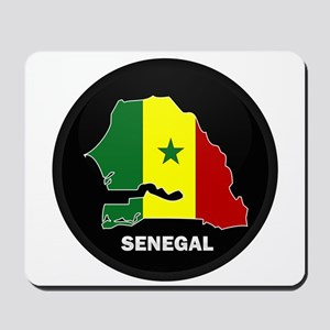 Flag Map of senegal Mousepad