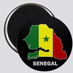 Flag Map of senegal Magnet