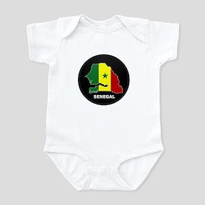 Flag Map of senegal Infant Bodysuit