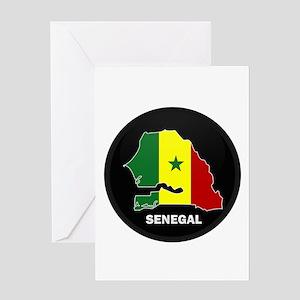 Dakar senegal stationery cafepress flag map of senegal greeting card m4hsunfo