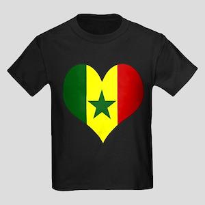 I Love senegal Kids Dark T-Shirt