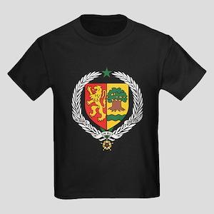 senegal Coat of Arms Kids Dark T-Shirt